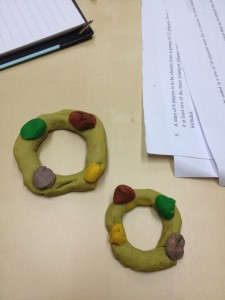 Simple Play-Doh becomes a great tool to explain circular permutation.
